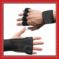Women's Padded Grip Fingerless Gym Gloves For Weight Lifting
