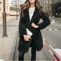 B31582A 2018 new winter fashion women coat loose big yards lady's woolen long coat