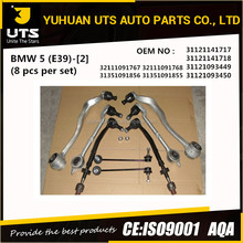 Autoparts 8 pcs per set control arm set spare parts suspension arms for 5 E39 32111091767 31351091856 31121141717 31121093449