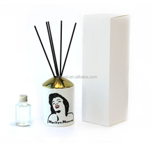 Luxury Ceramic Reed Diffuser Container 200ml Bottle For Home Frafrance