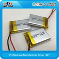 Customized Lithium polymer 502535 400mAh 3.7v rechargeable battery