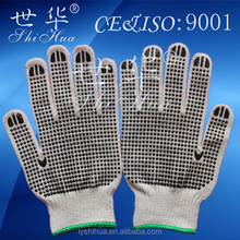 pvc dots cheap safety protective glove