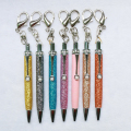 Hot Selling Mini Crystal Ball Pen Cheap Glitter Promotional Pen Diamond Crystal Mini Pen With Keychain