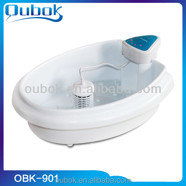 Health care ionic detox foot spa massage machine with round detox ion array combined