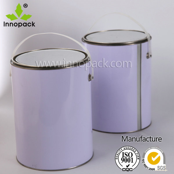 5L white round paint metal cans olive oil tin cans