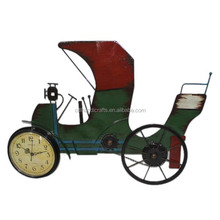 Old Chinese Rickshaw Shape Antique Wall Clock
