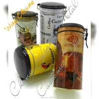 Round Airtight Plastic Cap Metal Tin Can