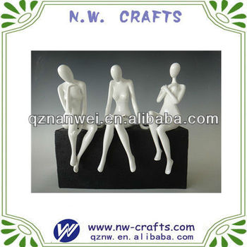 Resin lady statue art crafts