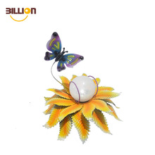 Special Design Metal Butterfly Garden Solar Light For Decoration