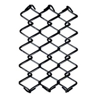 3ft/6ft height 2 inch Black vinyl coated chain link fence