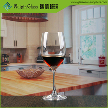 Customized popular printed port wine glasses huafu glassware 250ml wine glass with stripes