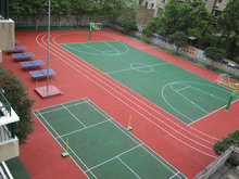 Drainage plastic sport outdoor basketball court flooring