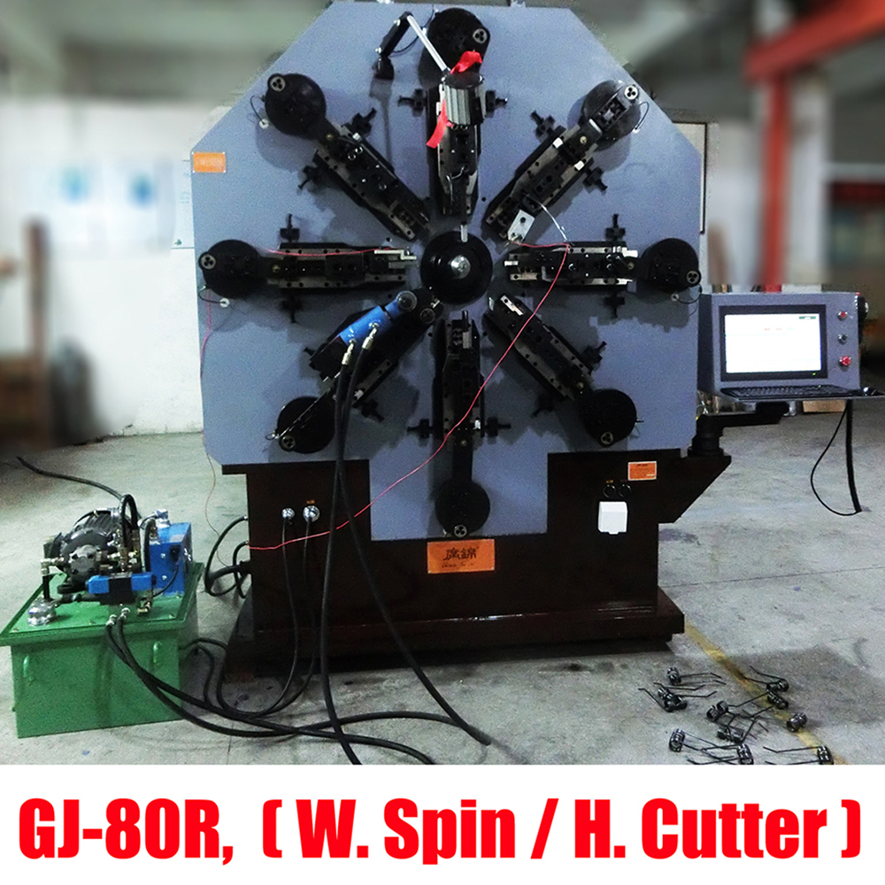 8mm 12 Axis Heavy Duty Spring and Wire Bending Machine for Motorcycle and Agriculture Equipment