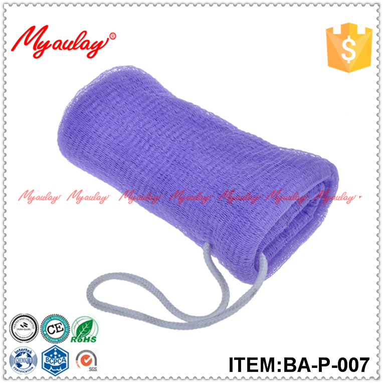 2015 Cheap price purple soap mesh saver sponge bubble net bag for walmart audit BA-P-007