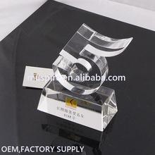 China supplier best sell award crystal for golf sport