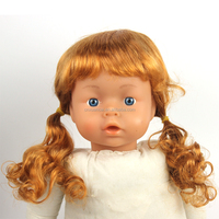 Beauty blonde baby doll curly wigs with different styles and new design very cheap