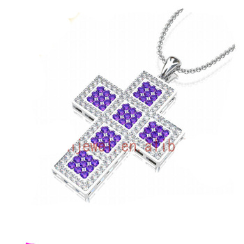 AUSTRIAN CRYSTAL JEWELRY WHOLESALE SILVER CROSS PENDANT YIWU PENDANTS & CHARMS
