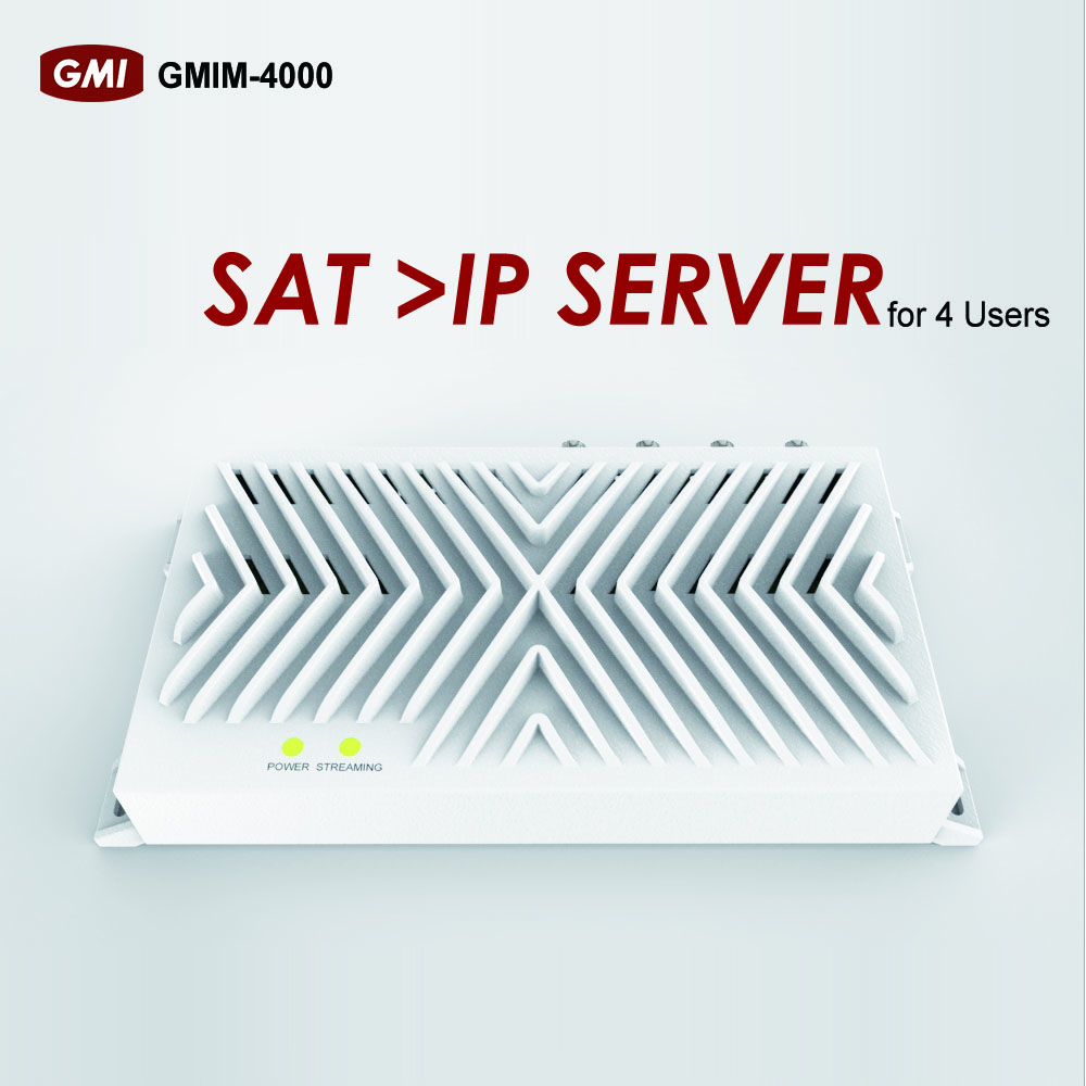 4 users SAT > IP server for Other Audio & Video Equipments