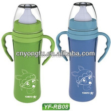 baby feeding bottle, double wall stainless steel baby bottle
