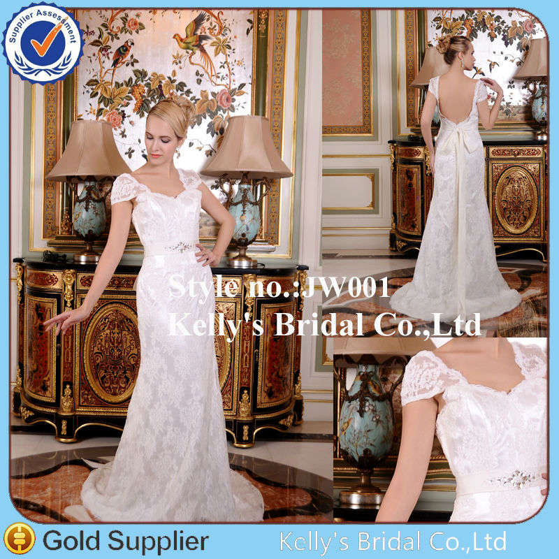 Fashionable royal elegant modern latest design with cap sleeves wedding dress for boy