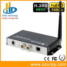 Factory Wholesale Full HD 1080P /1080I HEVC H.265 /H.264 Wireless SDI To H.264 IP Converter SDI To RTMP Streaming Encoder WIFI