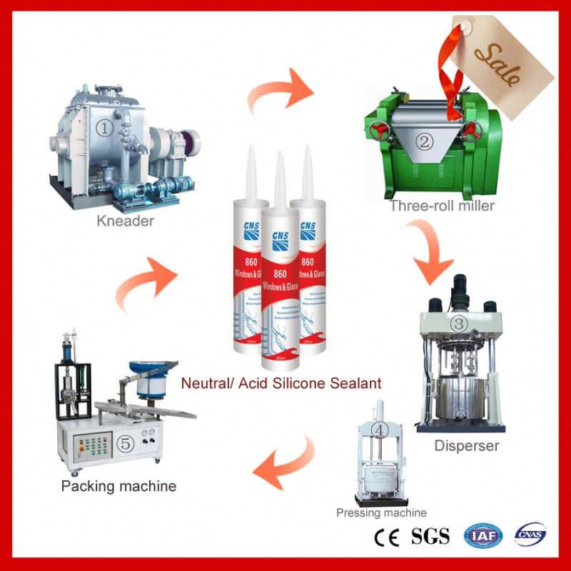 machine for silicone adhesive sealant
