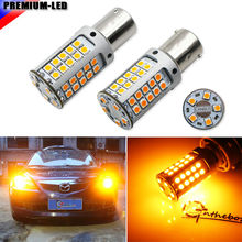 CANBUS 12V No Hyper Flash 21W High Power Amber 1156 7506 7528 BA15s P21W LED Bulbs For Car Front or Rear Turn Signal Lights