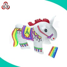 DIY Graffiti Painting Washable Creative Educational Toys horse Stuffed Animals
