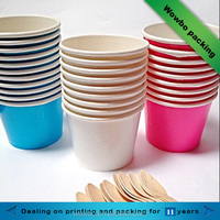 colorful custom printed take away disposable PE coated paper soup cups