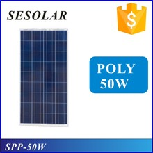 low price mini solar panel 12v poly solar panel 50w