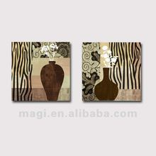 2012 Set of 2 New Design Antique Wooden Canvas Oil Painting