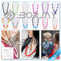 Food Grade baby teether Silicone doll Lady pendant necklace