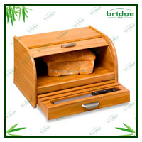 the whole nature bamboo bread container with drawer for knife