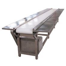 beef , pork , seafood , beverage snack food / fruit / vegetables white pvc conveyor belt