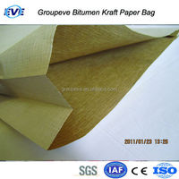 Paper Bag 3 Layer Craft 3 Layers 25 Kg Paper Bag for Packing Oxidized Blown Bitumen Asphalt