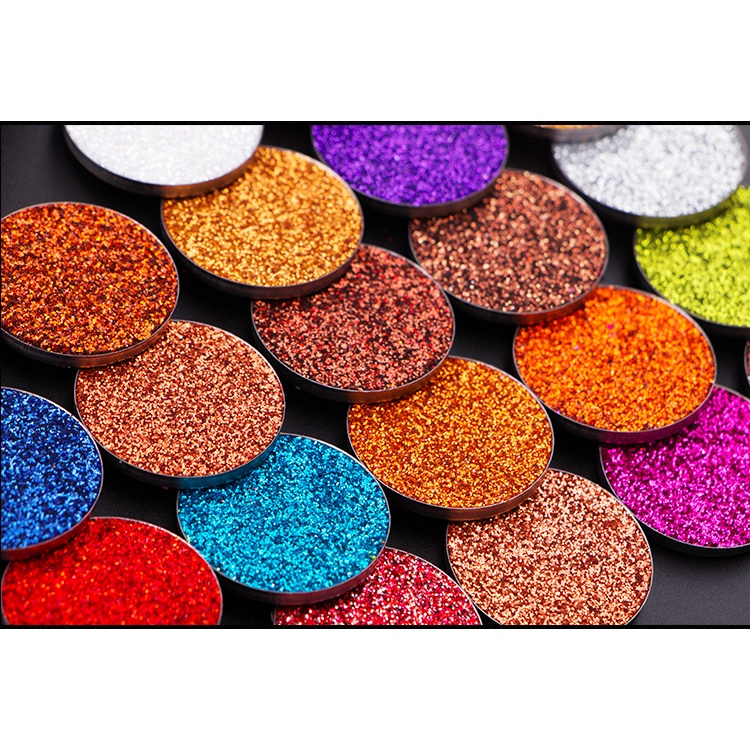 OEM customized 1 color pressed glitter eyeshadow private label wholesale eyeshadow glitter palette