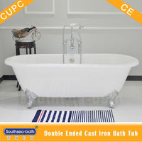 Dual ended cast iron tub on imperial feet
