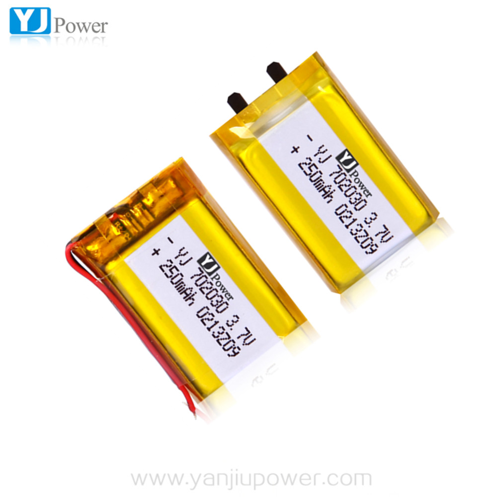 china rechargeable high rate rc li-polymer battery 702030 3.7v rc toy helicopter battery 250mah