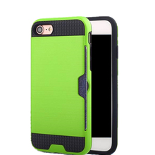 Mobile Phone Waterproof Card Holder Silicone Case for iPhone 5S , Luxury Shockproof Brushed TPU Case for iPhone 5S Cover