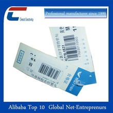 Rfid Smart tag clothing labels with chip