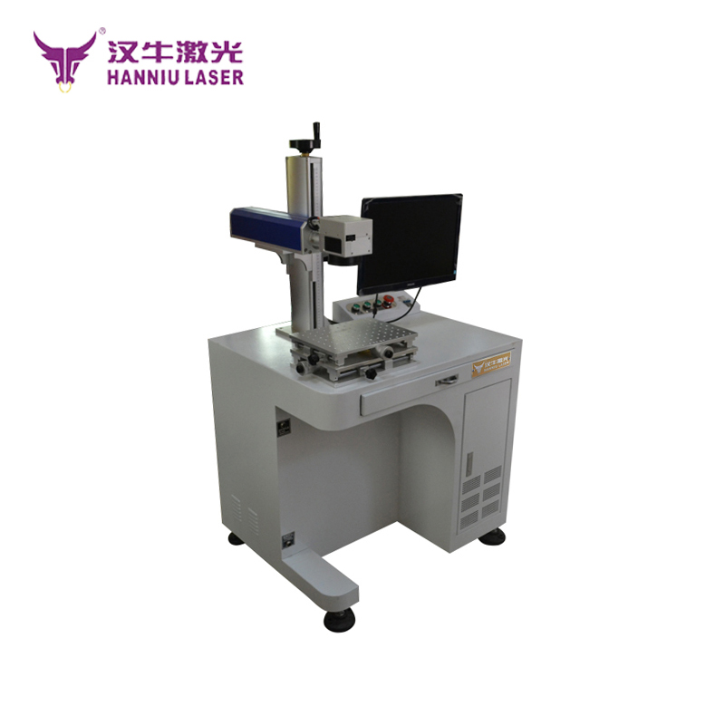 Laser printing machine for steel ring engraving hanniu 20w fiber laser marking machine ML-20