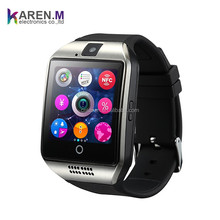 2017 Bluetooth Smart Watch Rose Gold Android Q18Plus Phone Watch Bracelet Support NFC Camera TF Card for Android Phone