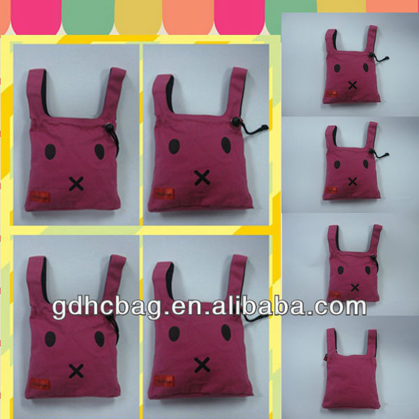 Sound Rabbit Design cotton red Handbag for young girl