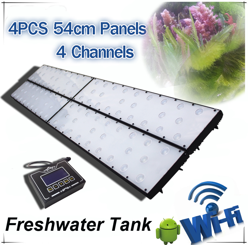 Wifi controller freshwater led aquarium light led aquarium light red and green cool white 240cm planted