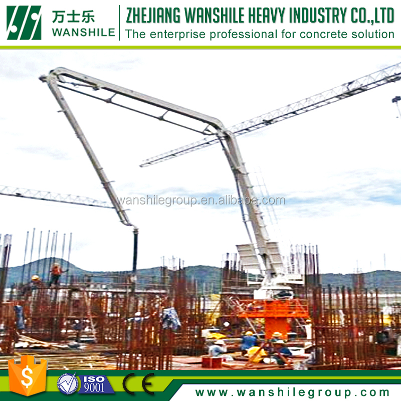 self climbing mechanical concrete placing boom