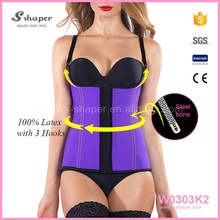 100% Rubber Sexy Waist Shaper Latex Body Suit Slim And Lift Vest W0303K2