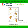 Cartoon printing cheap baby plastic storage 4 drawers cabinet