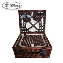 cheap wicker picnic basket Camping willow basket Picnic set