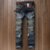 Biker ripped jeans mens motorcycle jeans riding on the road Fall denim jean pants Y11047