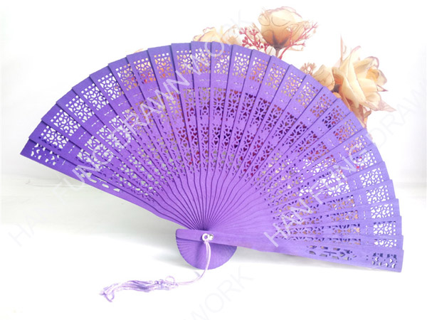 Factory price wooden wedding souvenir fans